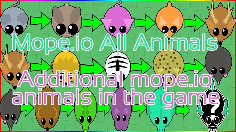 Mope Io All Animals Animals Game Gem Cute Animals