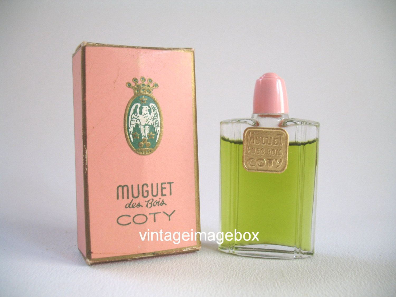 coty muguet des bois vintage mini perfume miniature bottle boxed perfume bottle box and. Black Bedroom Furniture Sets. Home Design Ideas