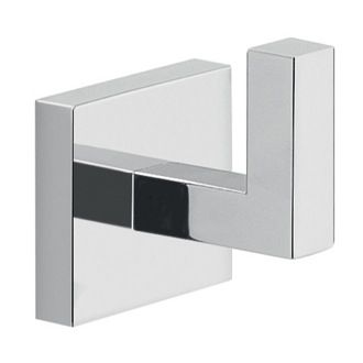 Elba  Bathroom Hook Modern Square Wall Mounted Chrome Bathroom Captivating Chrome Bathroom Accessories Design Decoration