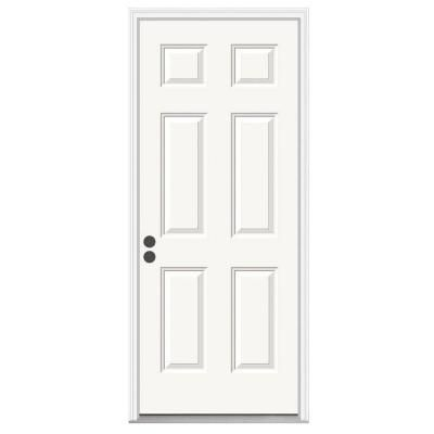 Nice Make A Perpetual First Impression By Installing JELD WEN Premium Panel  Primed White Steel Entry Door With Brickmold To Your Home.