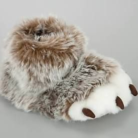 John Lewis Claw Slippers, Brown £15