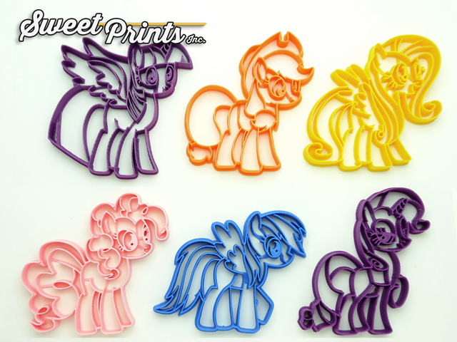 Choice of  Sizes My Little Pony Cookie Cutter 3D Printed Plastic MLP