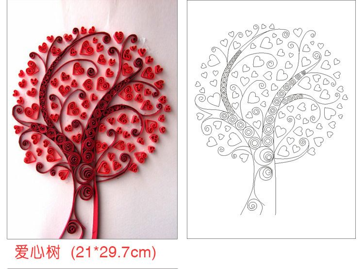 1set 12 pieces necessary diy quilling paper patterns
