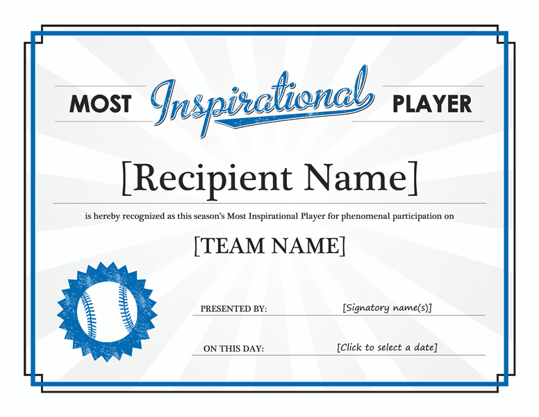 Most inspirational player award certificate who doesnt love free most inspirational player award certificate free certificate templates in other certificates category yadclub Choice Image