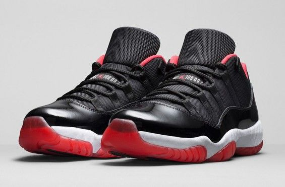 Air Jordan 11 (XI) Low – Bred Noir / True Rouge – Blanc ...