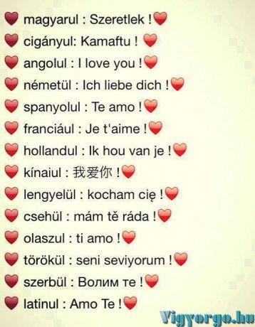 német szerelmes idézetek magyarul szeretlek szó több nyelven | L love you, Bff quotes, Daily