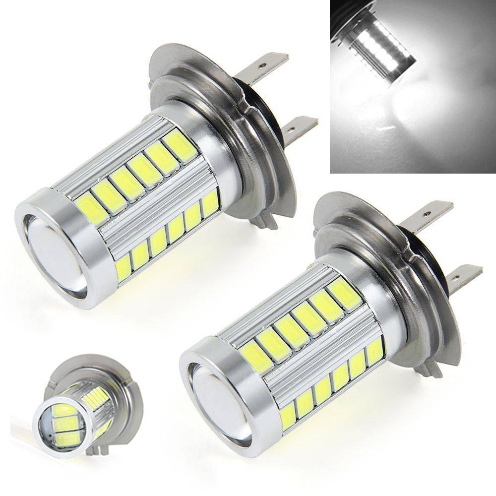 2x Car Led H7 12w 12v Bulb Super Xenon White Fog Lights High Power Car Headlight Lamp Parking Car Light Source Drl Car St High Power Led Lights Car Lights Bulb