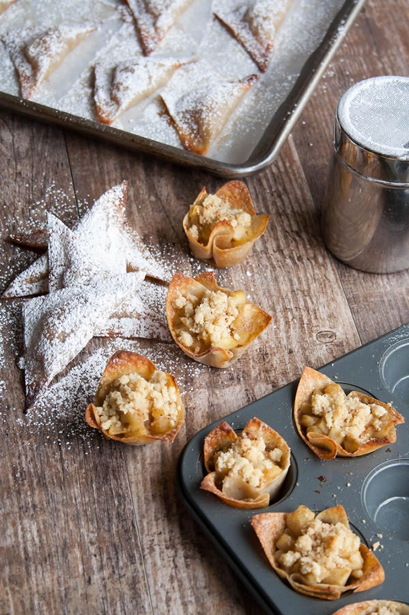 Skinny Apple Pie Won Tons - The Merchant Baker