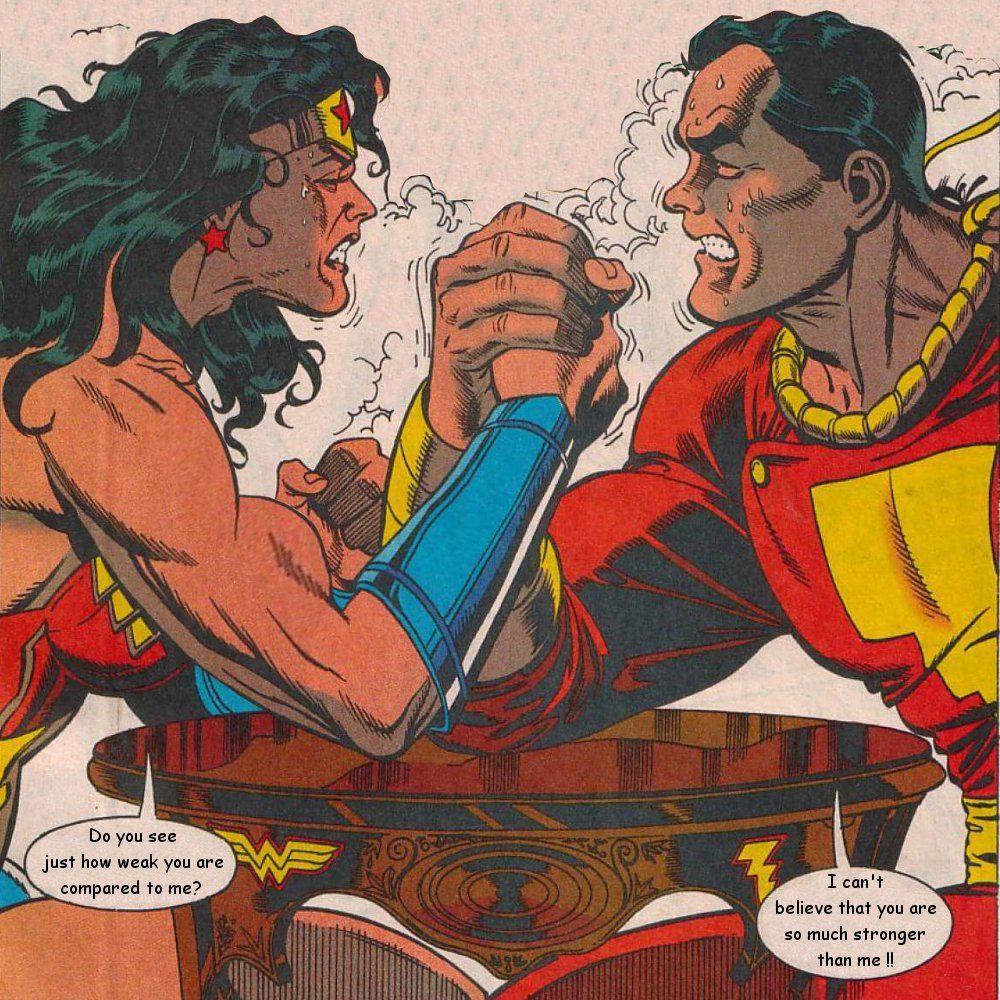 Wonder Woman Vs Captain Marvel By Luvfemuscle On