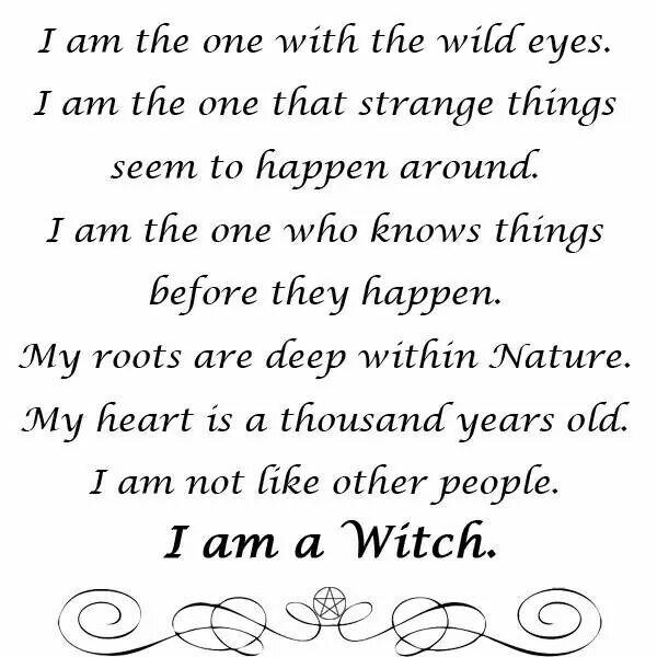 i am a witch