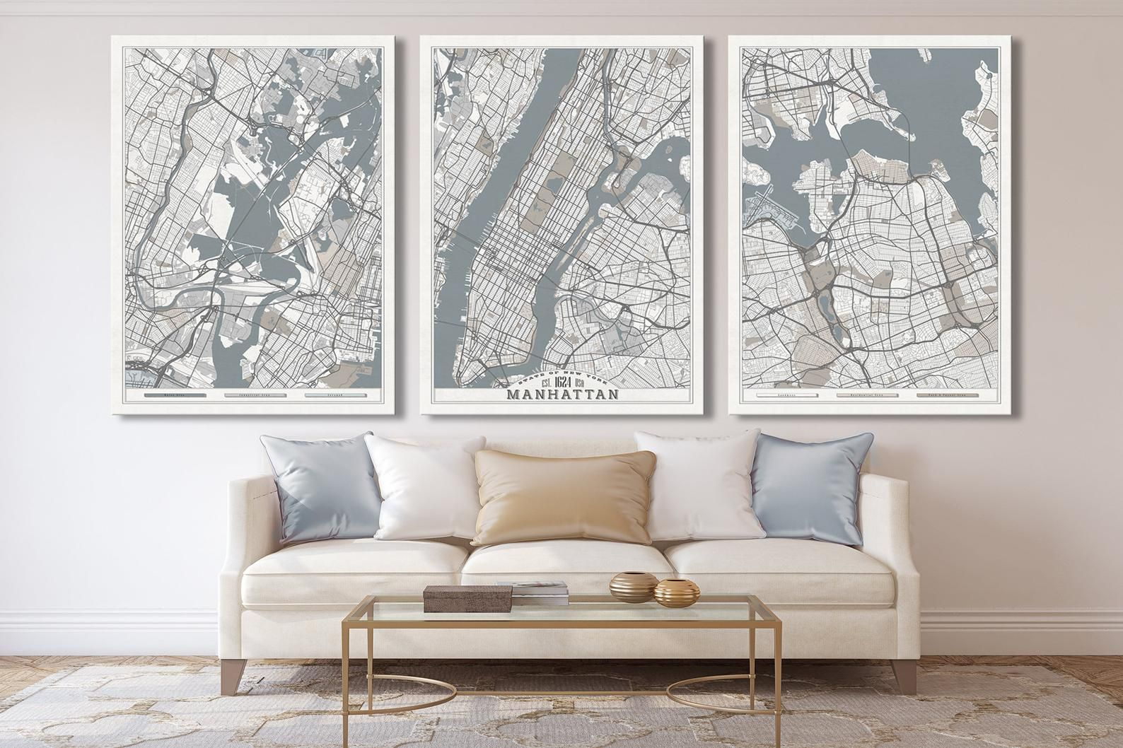 Manhattan Nyc Canvas Print Large Wall Art Chicago New York Etsy Oversized Wall Art Large Wall Art Extra Large Wall Art