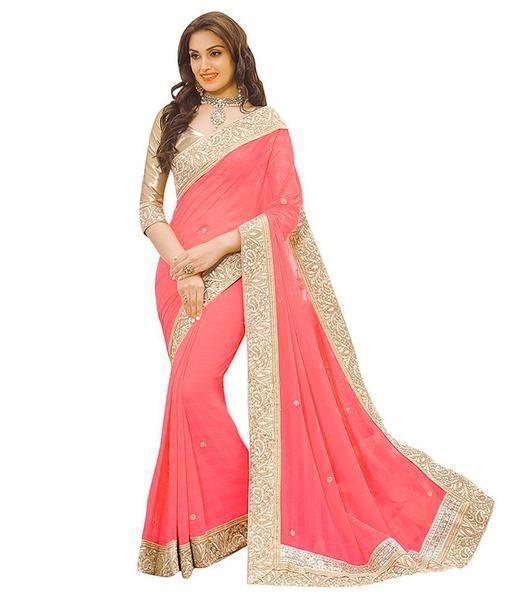 3ca546addd LadyIndia.com #Designer Sarees, Latest Designer Fancy Look Attractive Saree  For Women,