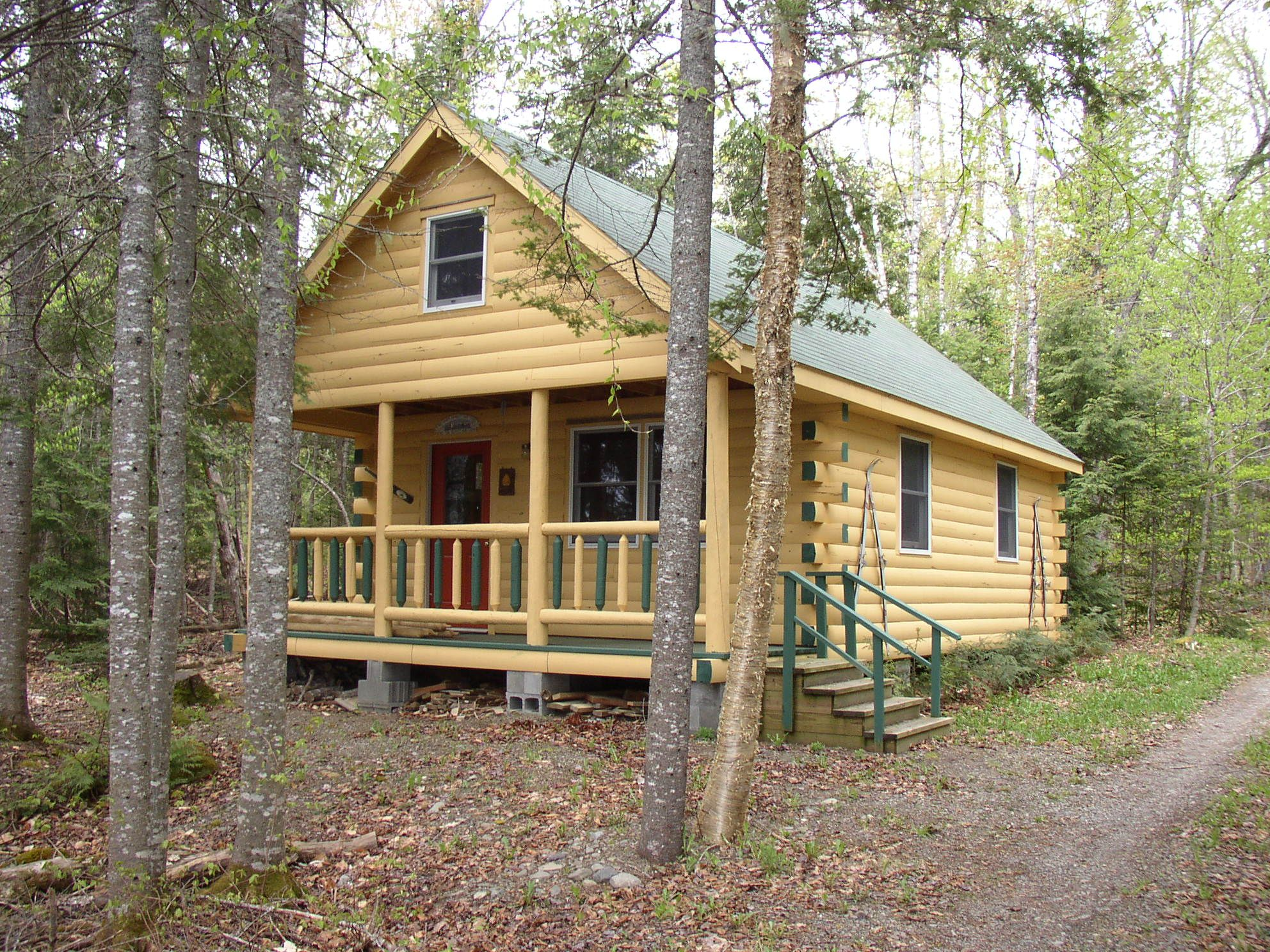 sale in for rental cabin log conway north watch youtube nh cabins
