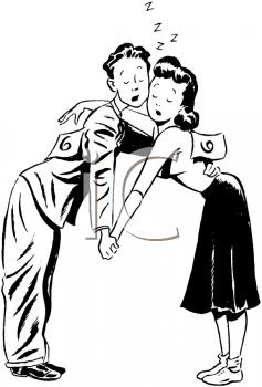 Dance Couple 2 - Retro Clipart Illustration Stock Vector Image & Art - Alamy