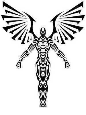 tribal angels tattoos tattoo ideas pinterest tattoo