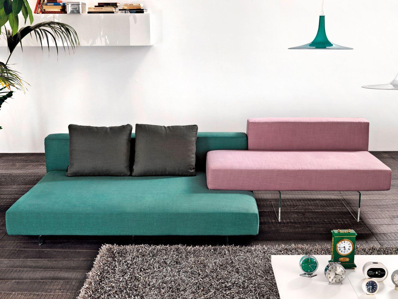 Upholstered Sofa With Chaise Longue Air Collection By Lago Design Daniele Lago Disenos De Unas Sofas Italianos Sofas Diseno