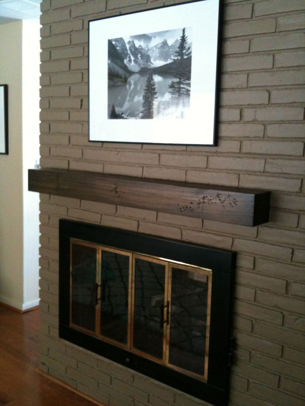 floating white ideas for painted brick pin and fireplace mantel