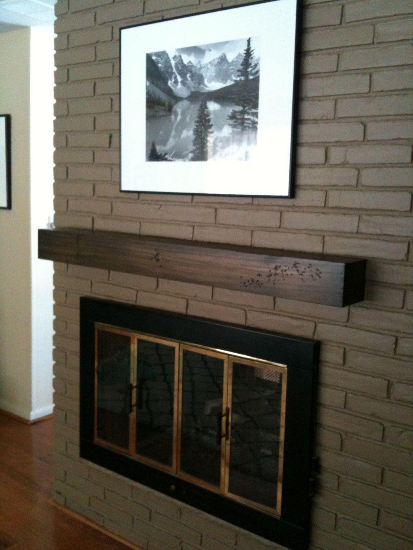 60 Inch 5 Foot Floating Rustic Fireplace By Customcornersllc Mantel Wood Shelf