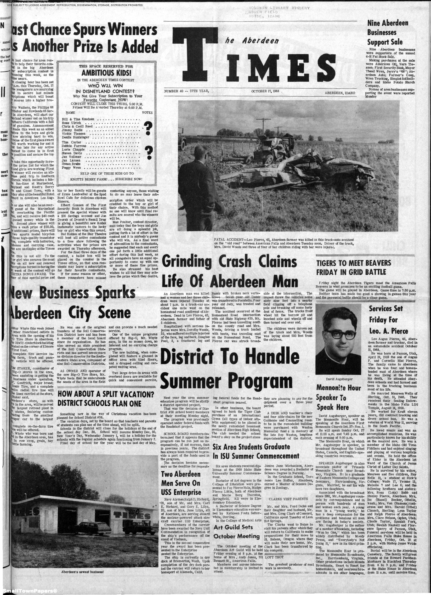 Welcome to The Aberdeen Times newspaper archive  The Aberdeen Times