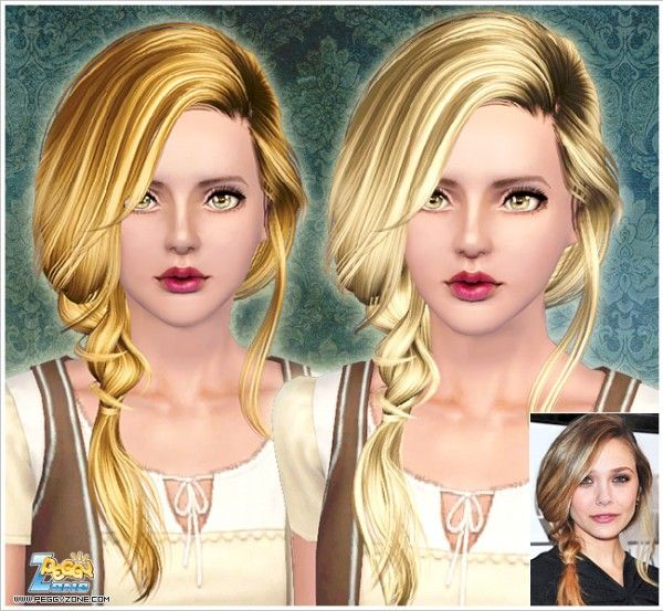 Fabulous Messy Side Braid Id 000068 By Peggy Zone For Sims 3 Sims 3 Short Hairstyles Gunalazisus