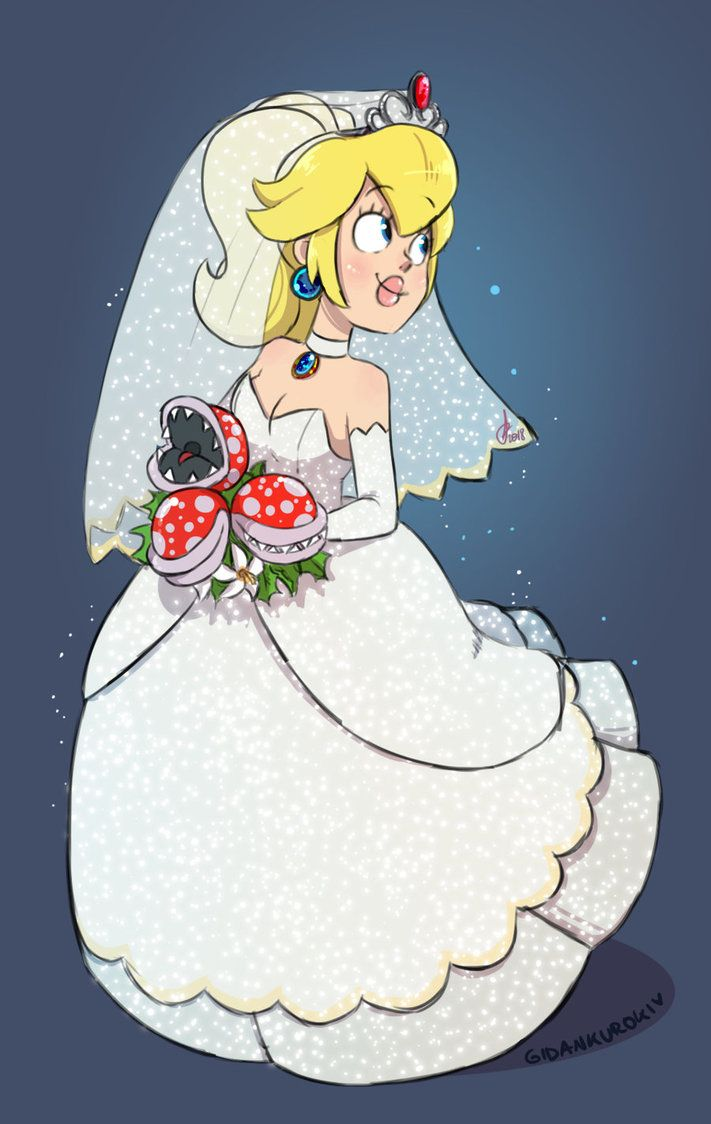 Peach In A Wedding Dress By Gidan Kuroki Mario Pinterest