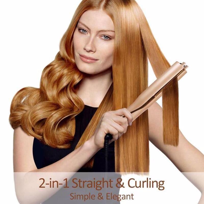 2 In 1 Iron Straightener Hairpro Stuff Shop Deals Hair Straightening Iron Hair Curlers Hair Straightener And Curler