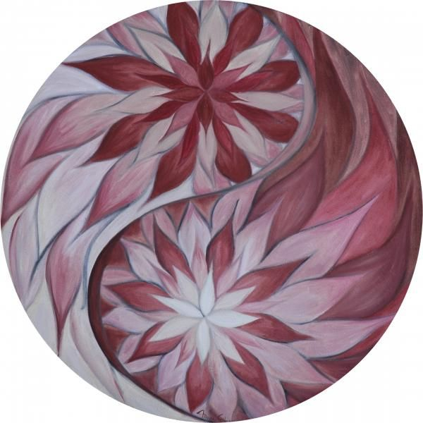"""Yin Yang """"Atraccion de opuestos"""" (°attraction of the opposites?) - by Moira Gil (fineartamerica)  www.aspenyogamats.com"""