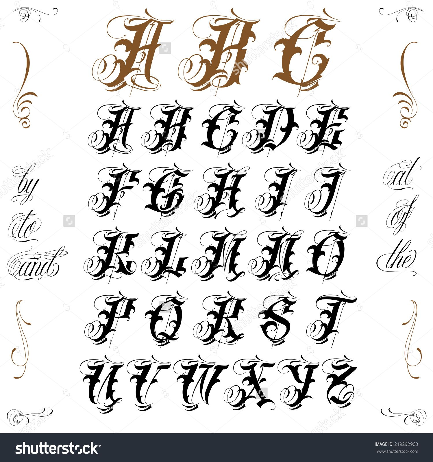 Image result for ampersand in old english calligraphy