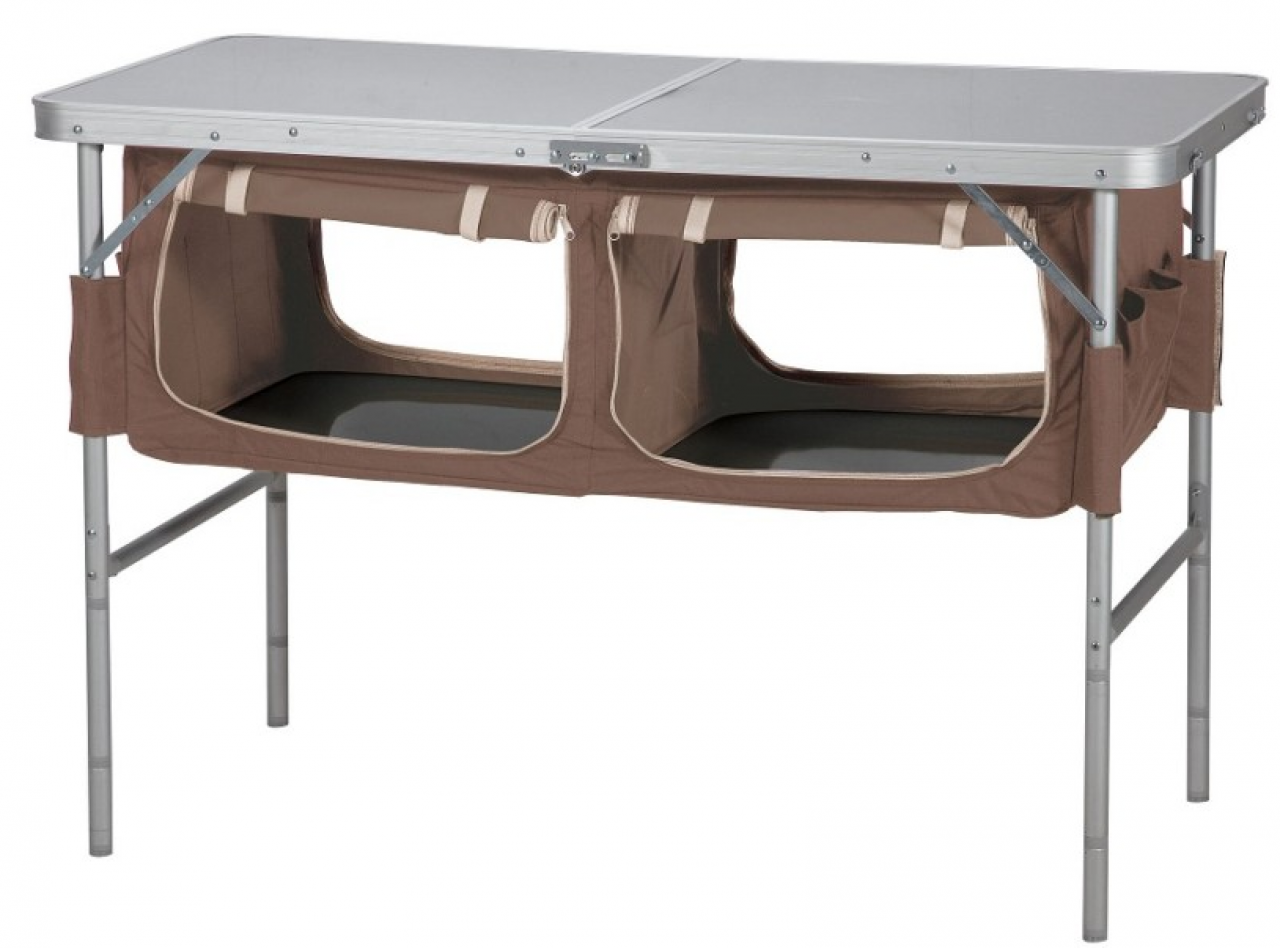 OZtrail Folding Camp Storage Table with Pantry | Camping