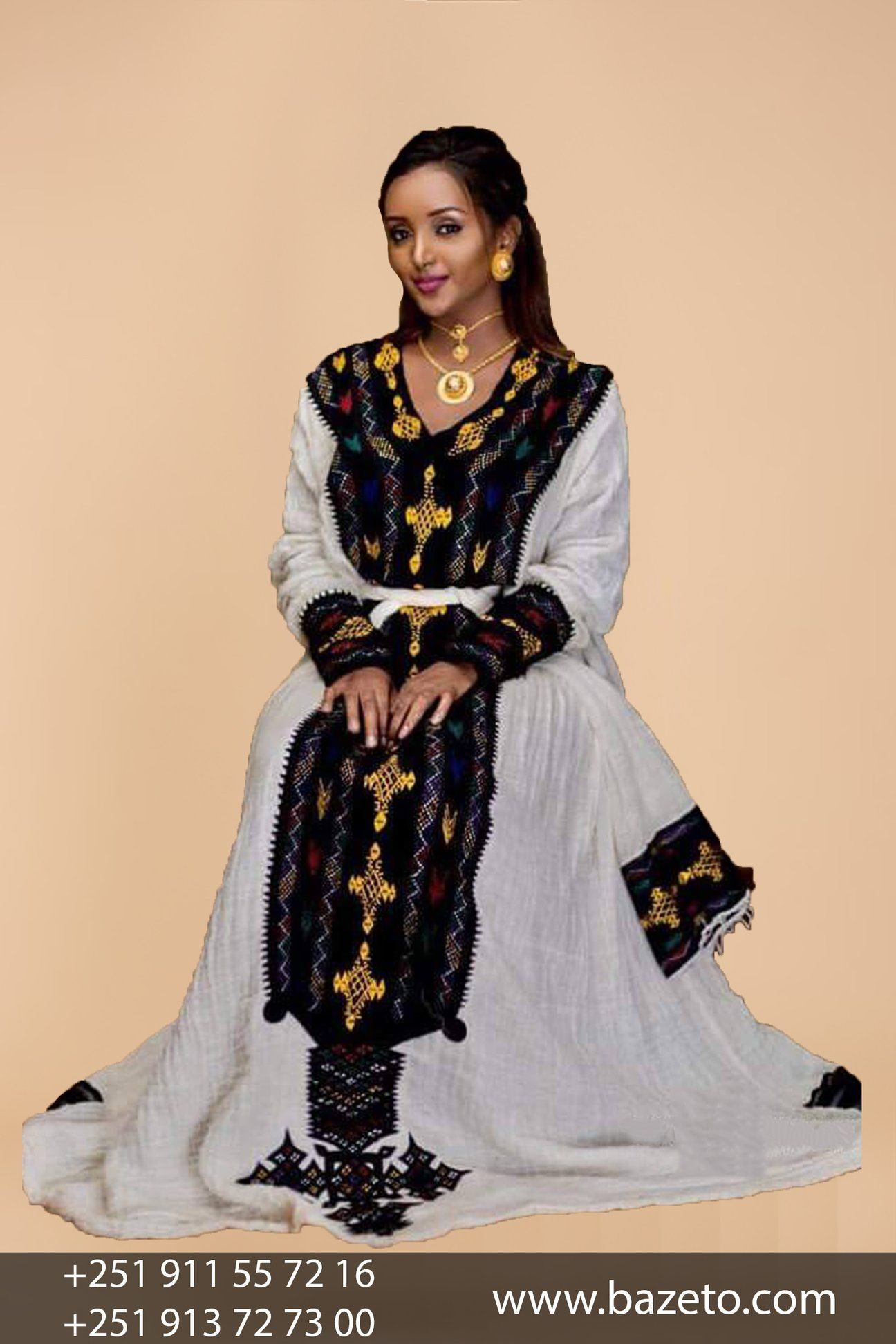 Axum Beautiful Ethiopian Traditional Cloth Bazeto Ethiopian Clothing Ethiopian Dress Traditional Outfits