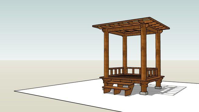 Gazebo Atap Datar 2x2 M2 Uk Lantai 2 3d Warehouse Dengan
