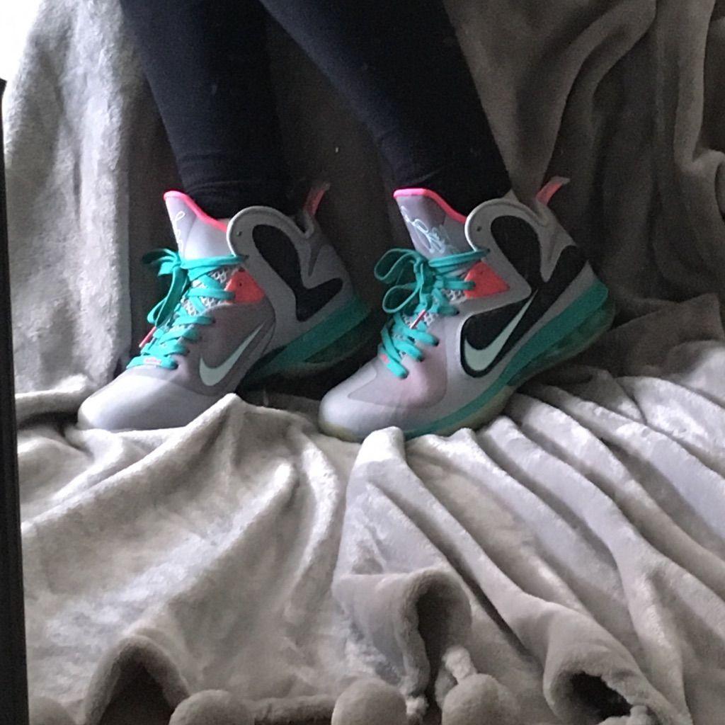 Nike Shoes Nike Lebron 9 South Beach Color Blue Gray Size