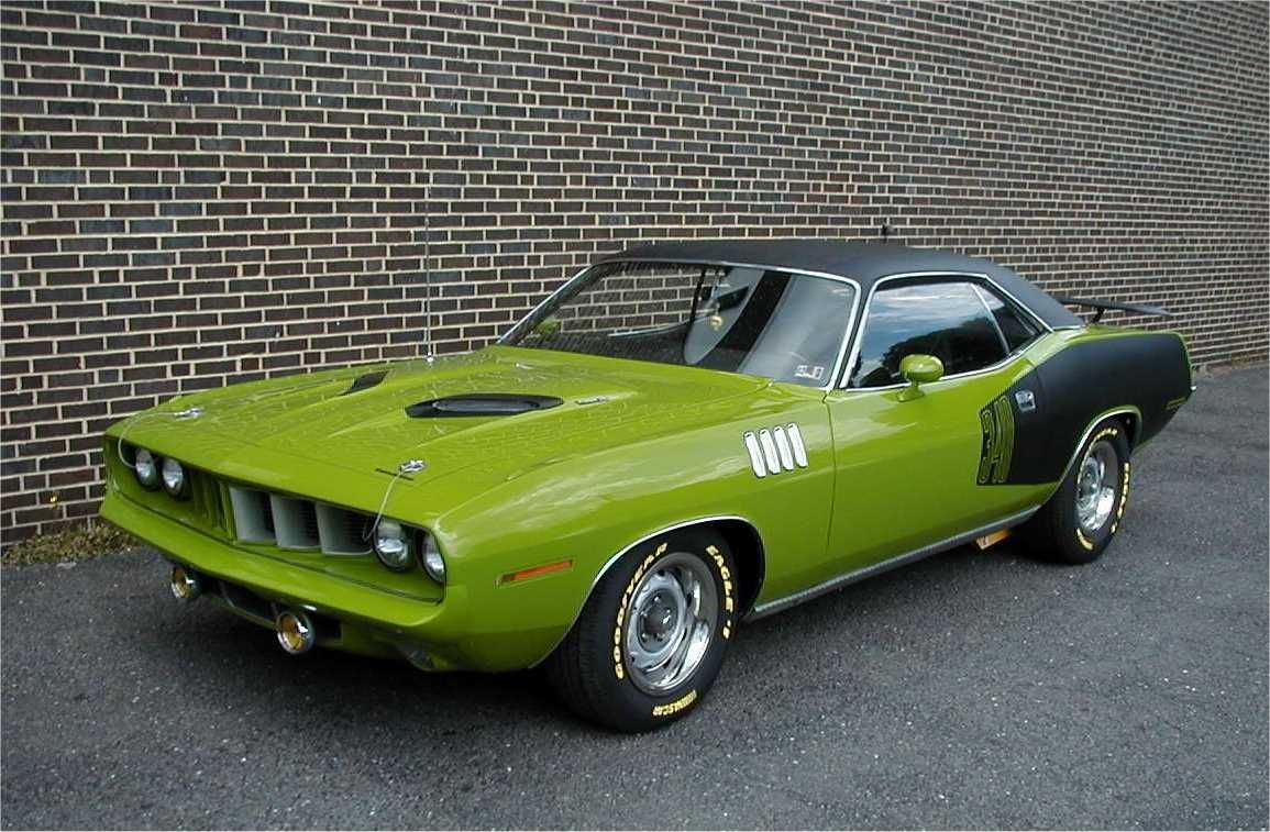 Green Cuda Muscle Car Green Pinterest Muscles Mopar And Cars