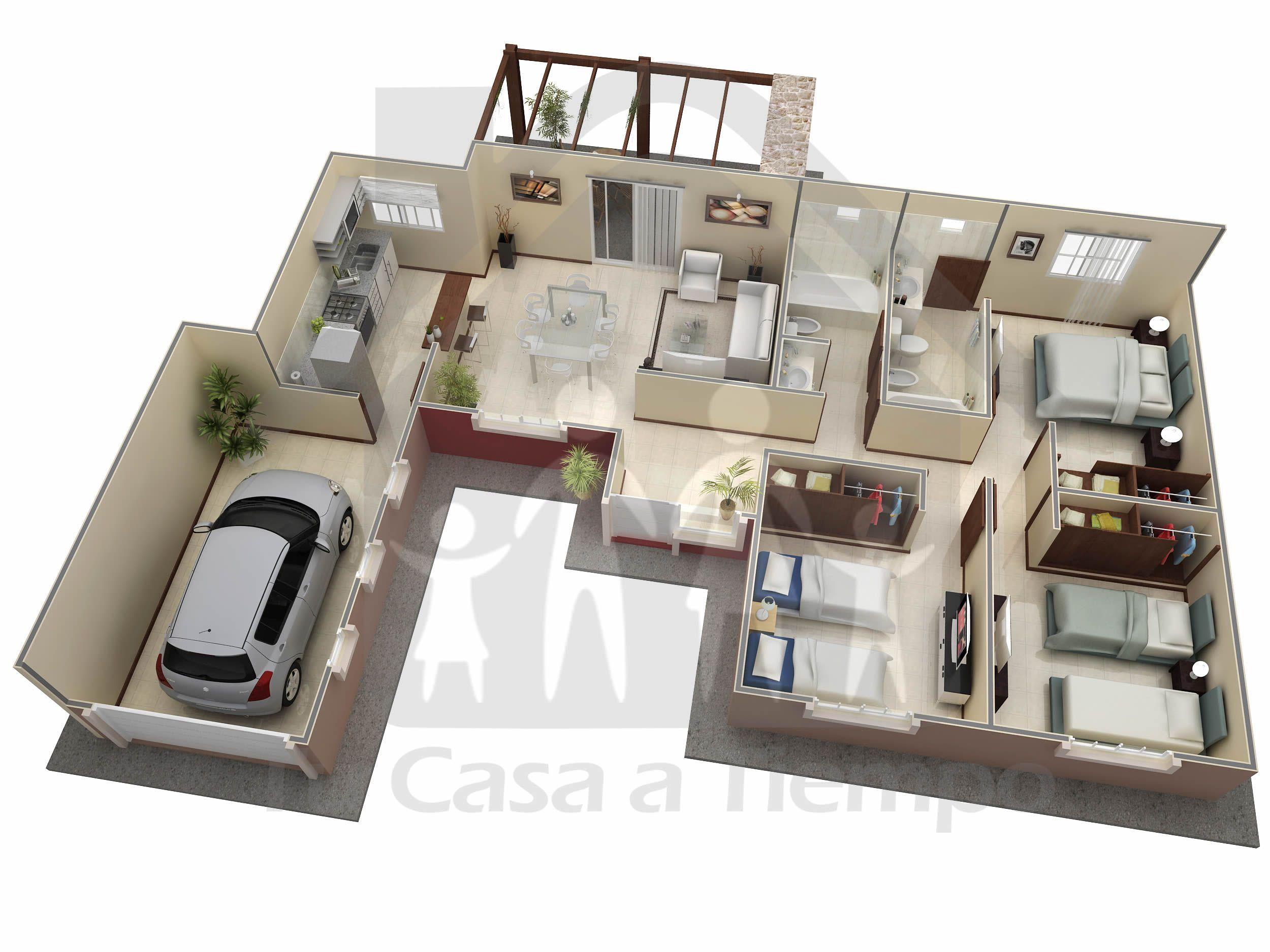 Tu casa a tiempo casa1 pinterest for Disena tu dormitorio 3d
