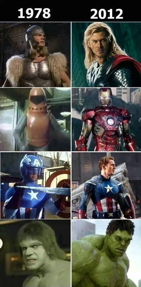 Superheroes then & more