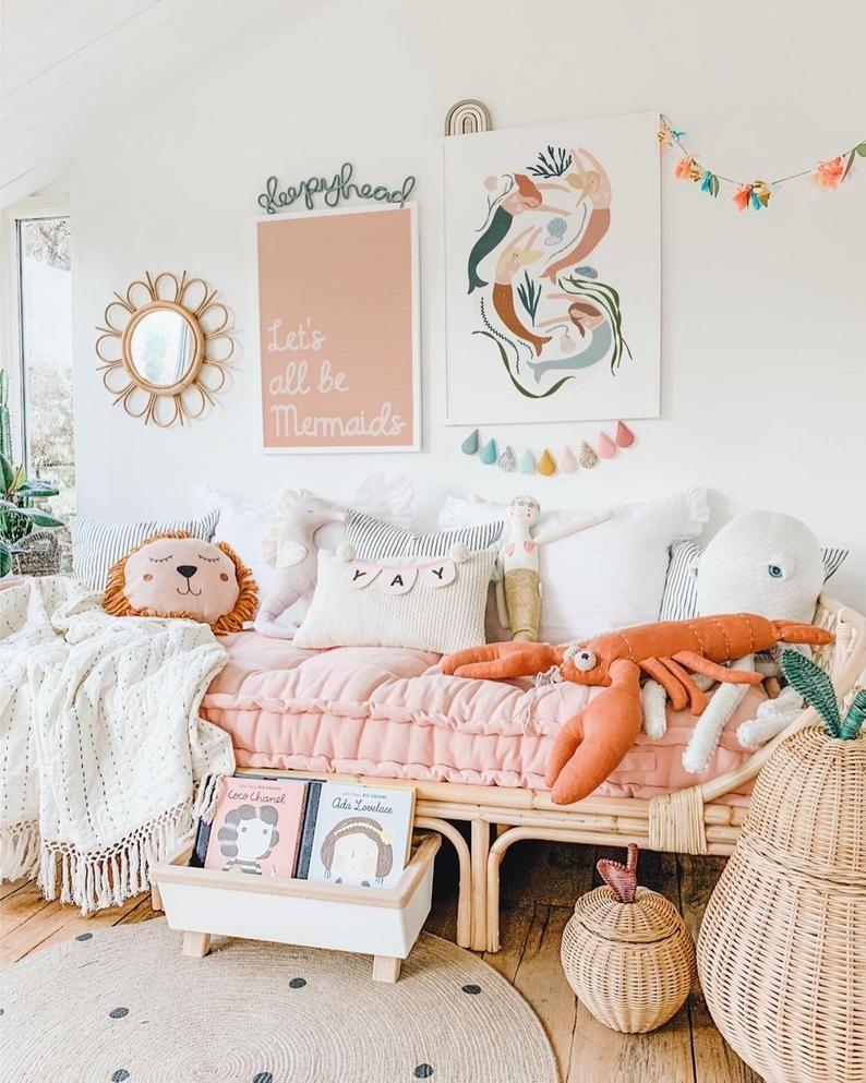 Baby Modern Rainbow Be Happy Print Kids Girls Pink Nursery Room Wall Art Decor Walls Decoration Rainx Cl