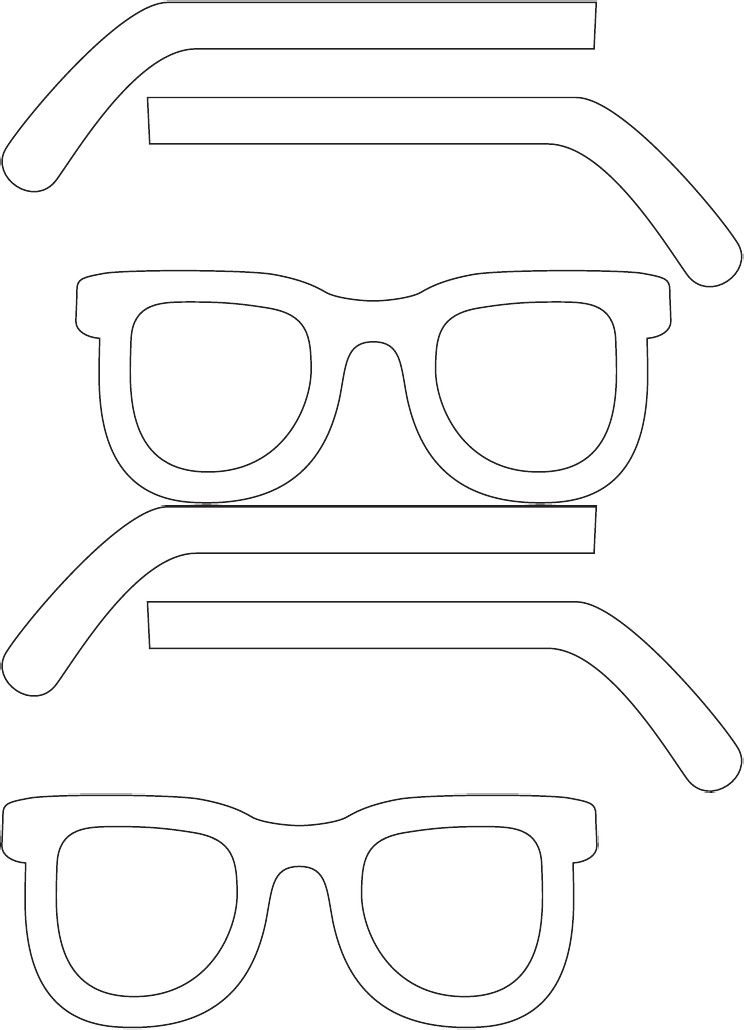 eye glasses template free printable prop photo templates
