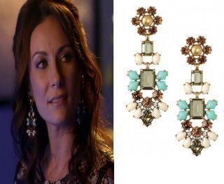 Mint Green & Gold Chandelier Earrings | Melanie Chandeliers ...