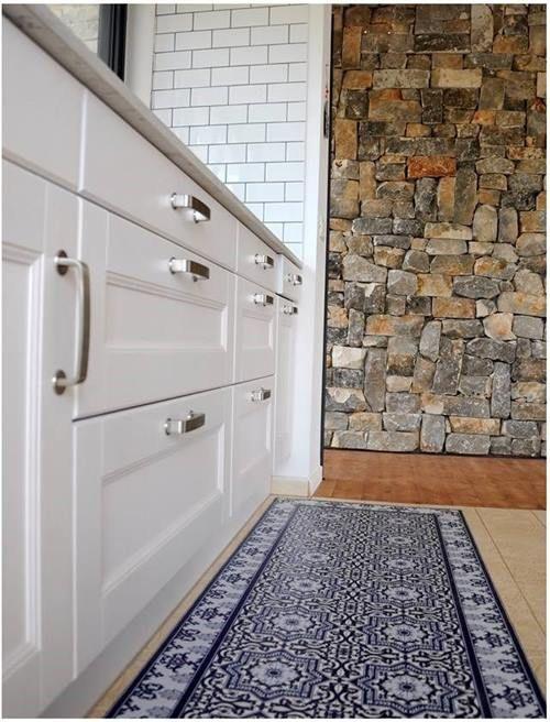 suelos de baldosa hidrulica en tu cocina pegando vinilos geometricos