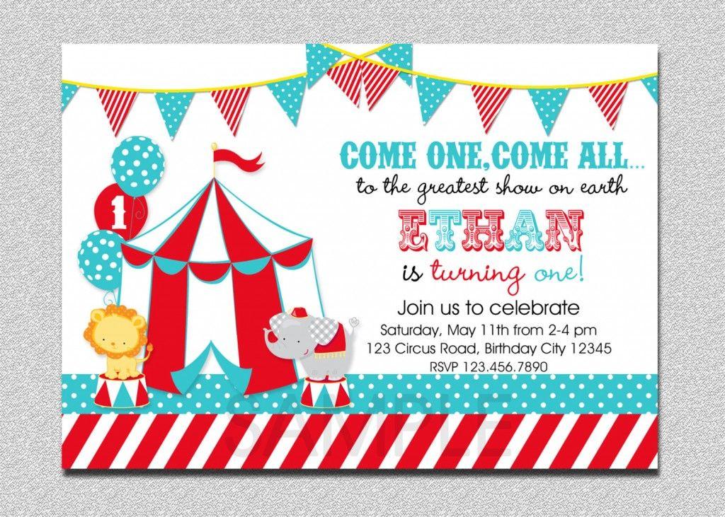 Birthday Invites Circus Design Carnival Birthday Party