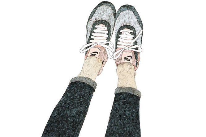 Alerta Bizarro: Tem Algo Errado Com A Cola Do Seu Sapato - Ilustração por Daniela Henríquez
