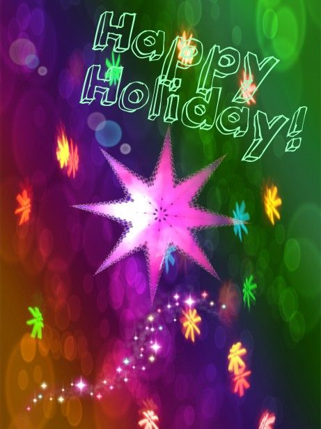 Happy Holiday Star Free Stock Photo - Public Domain Pictures