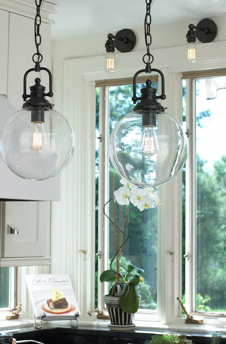 Clear Glass Globe Industrial Pendant Beleuchtung Pendelleuchte