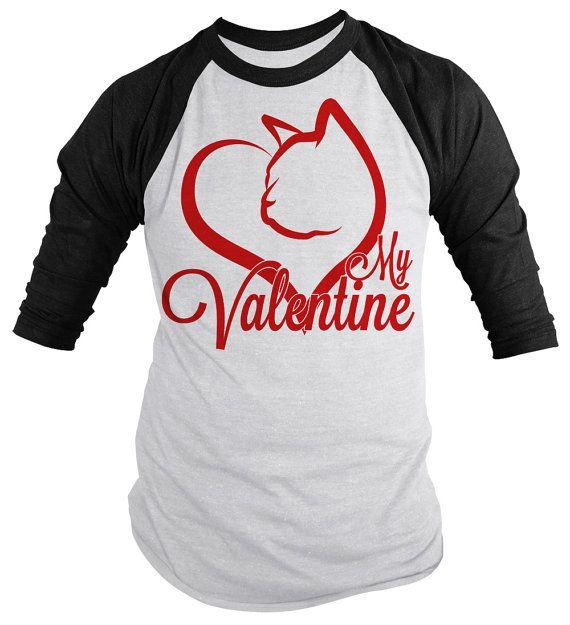 funny cat valentines day shirt 34 sleeve raglan by shirtsbysarah