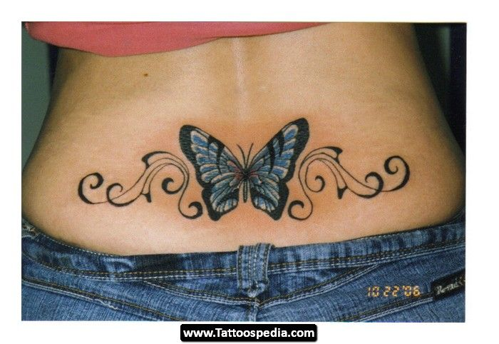 0c96cbdfa2af7 tramp stamp tattoo designs | Lower Back Tattoos Flowers Design Ideas ...
