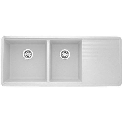 Blanco 48 Inch Precis Undermount Double Bowl Kitchen Sink White 440410 Double Bowl Kitchen Sink Kitchen Sink Sink