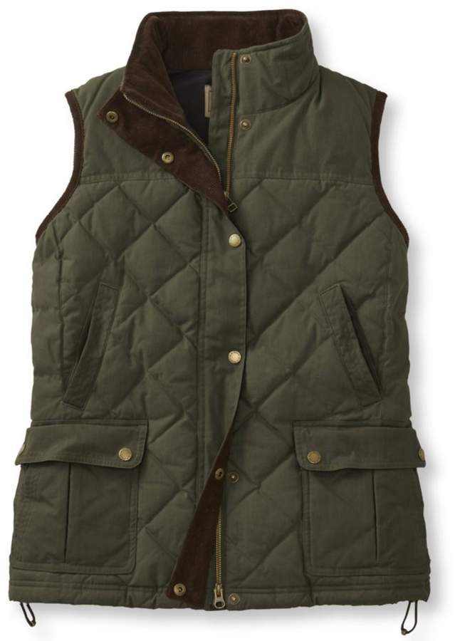 Women S L L Bean Upcountry Waxed Cotton Down Vest Down