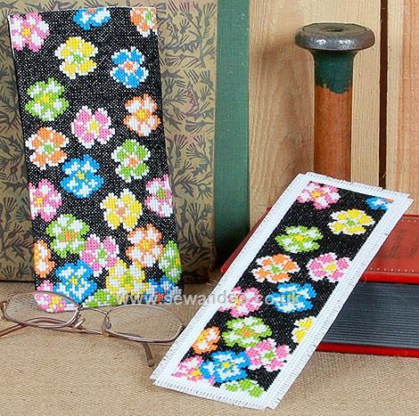 Exotic Blossom Bookmark and Glasses Case Cross Stitch Kit