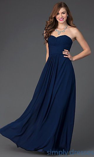 08a191f8b78 Long Strapless Sweetheart Elizabeth K Dress