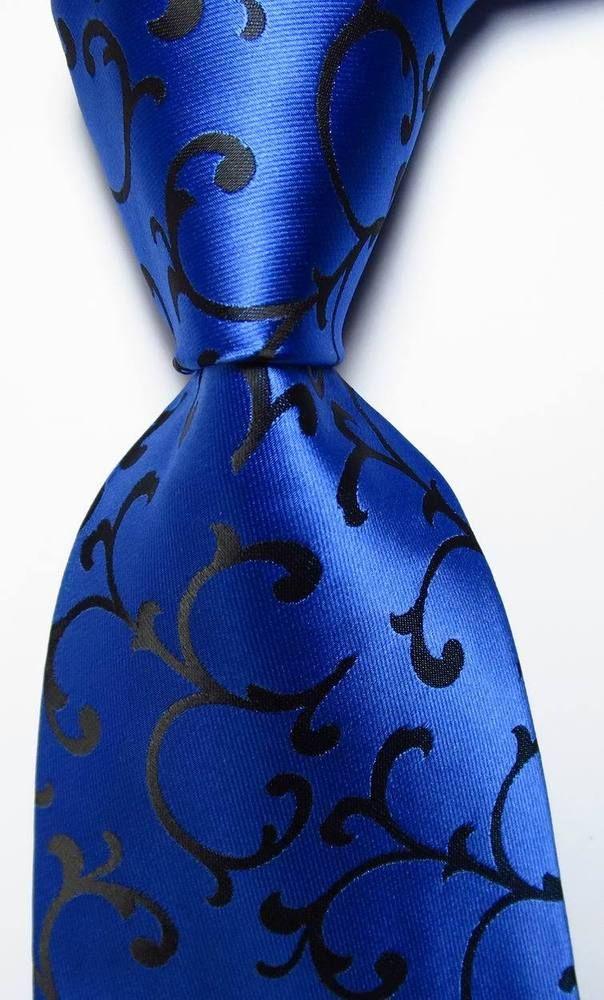 New Classic Paisley Black Blue Purple JACQUARD WOVEN 100/% Silk Men/'s Tie Necktie